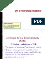 Corporate Social Responsibilties