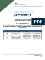 Convocatoria Licitacion Publica Nacional LA 008RJL001 N1 2014