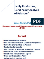 Rice Paddy Production, PracticRice Paddy Production, Practices, and Policy Analysis of Pakistanes, And Policy Analysis of Pakistan