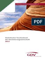 GDV Statistisches Taschenbuch 2013