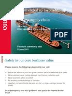 110609 Financial Community Site Visit Port Ops JS Slides