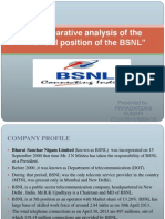 Comparative Analysis of the Financial Position Of