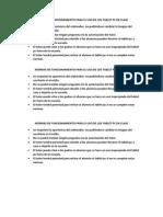 Normas de Funcionamiento Para El Uso de Los Tablet Pc en Clase