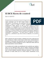 EKAI Center en NAIZ. EL BCE FUERA DE CONTROL
