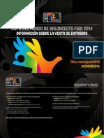 Venta Entradas Mundial Baloncesto España 2014