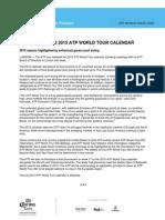2014 10 February 2015 ATP World Tour Calendar