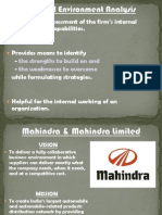 Internal Environment Analysis of Mahindra &Mahindra And