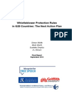 Whistleblower Protection Rules in G20 Countries the Next Action Plan Final Report September 2014