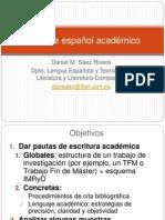 Taller de Español Académico 2013