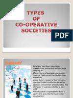 Types of Cooperative Society