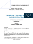 """""""Design For..."""" for Solid Waste Management Systems"""