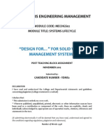 """Design For..."" for Solid Waste Management Systems"