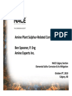 Amine Plant Sulphur-Related Corrosion