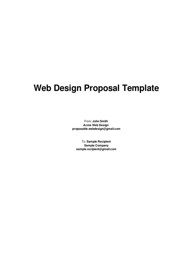 Web Design Proposal Template (2) | Design | Websites
