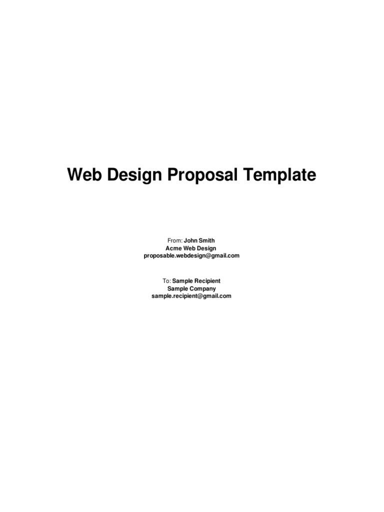 Web Design Proposal Template 2 Design Websites