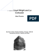 Frank Lloyd Wright-Le Corbusier