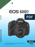 EOS 600D Instruction Manual En