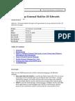 Setup External Mail for JD Edwards Software