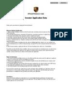 Porsche Investor Application Data