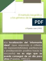 (2) Pujadas, 1992 El Método Biográfico