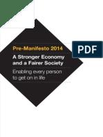 Liberal Democrat Pre-Manifesto 2014