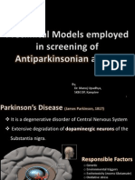 Screening of Anti Parkinson's Disease Agents