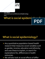 Session 1 What is Social Epidemiology 2014-1