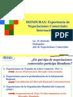 Honduras - Experiencia de Negociaciones Comerciales Internacionales