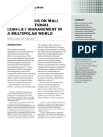 The consensus on Mali and international conflict management in a multipolar world