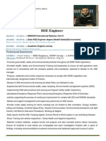 Update Cv Hse Engineer Slimani