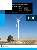 Towards high fidelity aeroelastic analysis of wind turbine blades