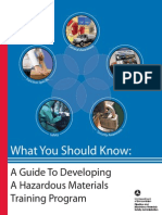Guide to Developing a Hazardous Materials Training Program
