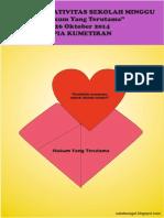 Bahan Kreativitas Sekolah Minggu 26 Oktober 2014 PIA Kumetiran