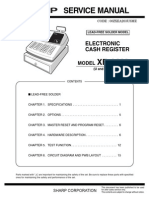 Sharp XE-A203 Elsctronic Cash Register Sm