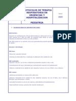 Protocolo de t. Respiratoria