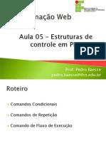 Aula 05 - Estrutura de Controle Em PHP