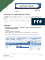 000001 - Como Fazer TOTVS - V 1080 Importação Do Historico