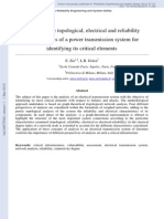 RESS Analyzing the Topological Electrical and Reliability Characteristics of a Power Transmission System for Identifying Its c
