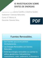 Trabajo de Investigacion Sobre Las Fuentes de Energias