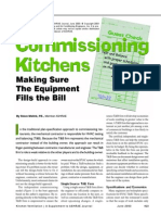 ASHRAE JOURNAL - Commissioning Kitchens - Making Sure the Equipment Fills the Bill