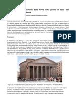 Geometria Sacra Armonia Delle Forme Nella Pianta Di Base Del Pantheon Adrianeo Di Roma