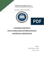 Etica in Relatiile Internationale Duma Alexandru-Adrian Grupa 2