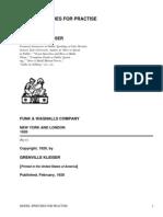 Model Speeches for Practise by Kleiser, Grenville, 1868-1953