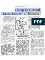 1973-07-06 Spokesman Review - Bloodless Coup by General Gains Control of Rwanda