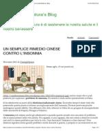 UN SEMPLICE RIMEDIO CINESE CONTRO L'INSONNIA | La ForzaDellaNatura's Blog