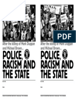 Police Racism and the State 2014