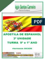 Apostila de Espanhol 3ª Unidade