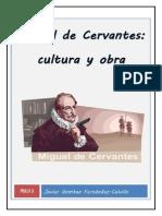 Cultura y obra en Miguel de Cervantes