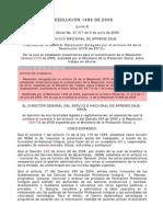 Resolucion Sena 1486 2009