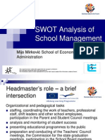 SWOT Analysis of School Management